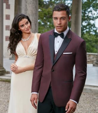 Tuxedo rental retail class act tuxedo temecula ca burgundy peak lapel tuxedo with black trim junglespirit Gallery
